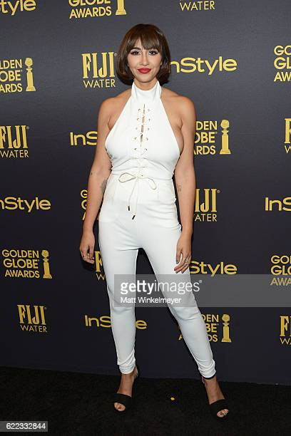 Actress Jackie Cruz arrives at the Hollywood Foreign Press Association and InStyle celebrate the 2017 Golden Globe Award Season at Catch LA on...