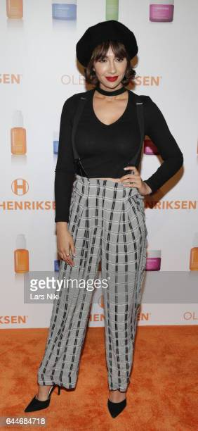 Actress Jackie Cruz attends as OleHenriksen celebrates brand relaunch at ArtBeam on February 23 2017 in New York City