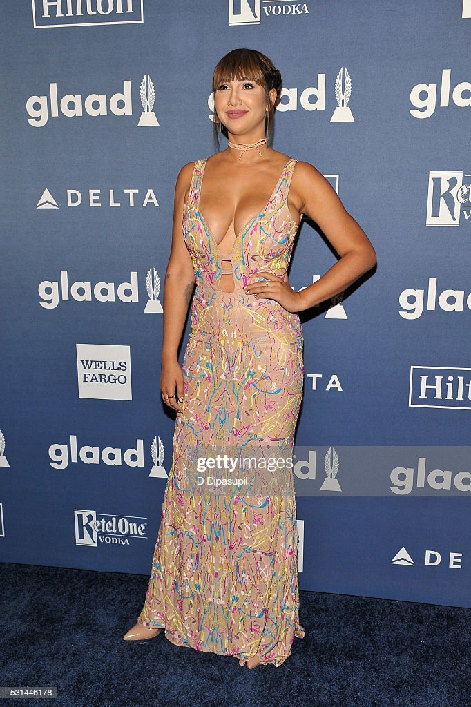 Actress Jackie Cruz attends at The 27th Annual GLAAD Media Awards with Hilton at Waldorf Astoria Hotel on May 14, 2016 in New York City.