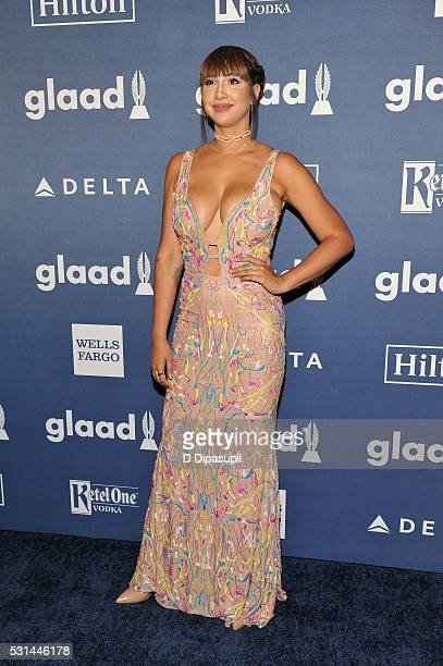 Actress Jackie Cruz attends at The 27th Annual GLAAD Media Awards with Hilton at Waldorf Astoria Hotel on May 14 2016 in New York City
