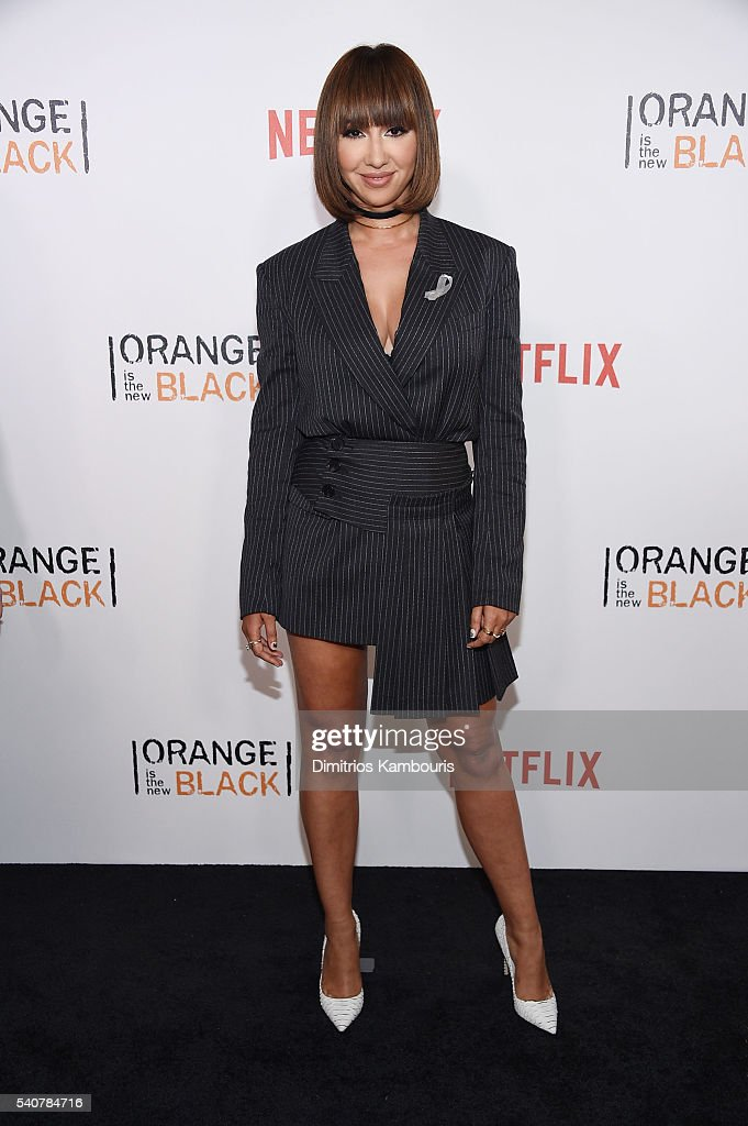 Actress Jackie Cruz attends 'Orange Is The New Black' premiere at SVA Theater on June 16, 2016 in New York City.