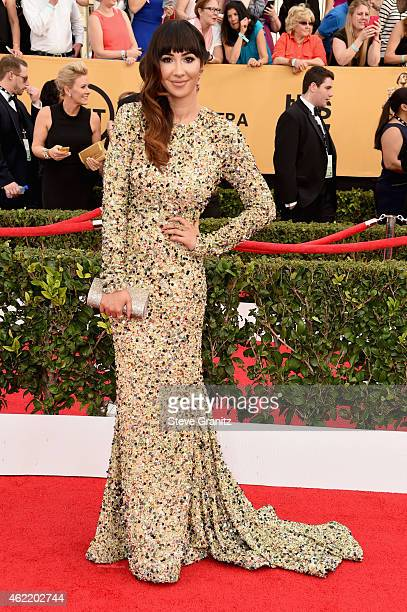 Actress Jackie Cruz attends the 21st Annual Screen Actors Guild Awards at The Shrine Auditorium on January 25 2015 in Los Angeles California