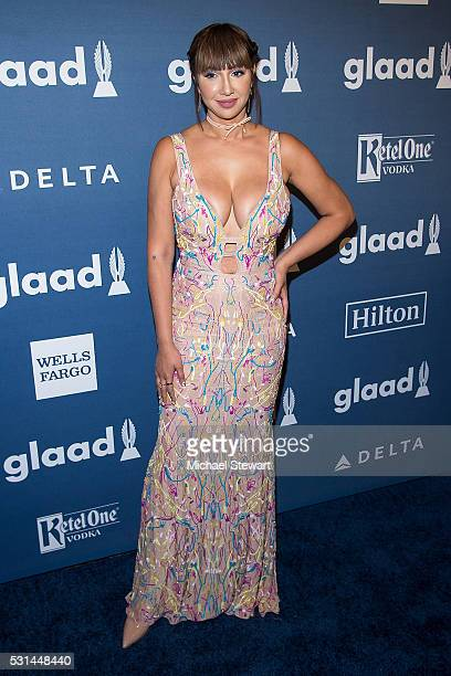 Actress Jackie Cruz attends the 27th Annual GLAAD Media Awards at The Waldorf=Astoria on May 14 2016 in New York City