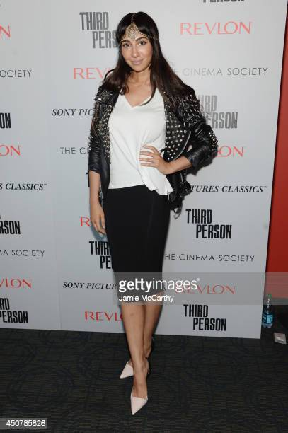 Actress Jackie Cruz attends The Cinema Society Revlon screening of Sony Pictures Classics' 'Third Person' on June 17 2014 in New York City