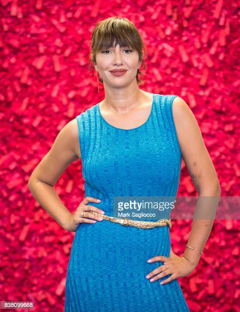 Actress Jackie Cruz attends the Contemporary Figurative Expressionist Artist's Fernando Garcia Debut Reception at 326 Gallery on August 23 2017 in...