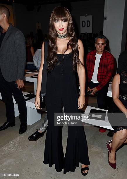 Actress Jackie Cruz attends the Nicole Miller spring 2017 show Front Row September 2016 New York Fashion Week The Shows at The Gallery Skylight at...
