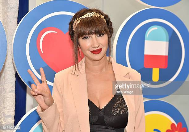 Actress Jackie Cruz attends the opening party and celebration of LOVE From Cave to Keyboard Imagined by Pepsi at 433 Broadway on July 14 2016 in New...