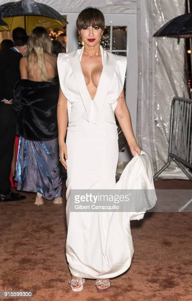 Actress Jackie Cruz is seen arriving to the 2018 amfAR Gala New York at Cipriani Wall Street on February 7 2018 in New York City