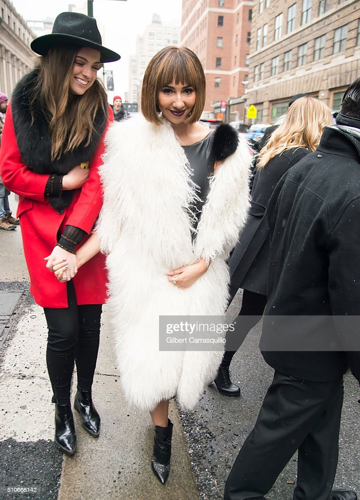 Actress Jackie Cruz is seen outside the Thomas Wylde Fall 2016 fashion show during New York Fashion Week: The Shows at The Dock, Skylight at Moynihan Station on February 15, 2016 in New York City.