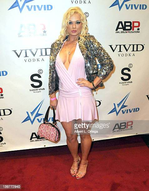 Actress Jackie Delgado arrives for the Premiere Of Vivid Entertainment's Star Wars XXX A Porn Parody held at SupperClub on February 23 2012 in...