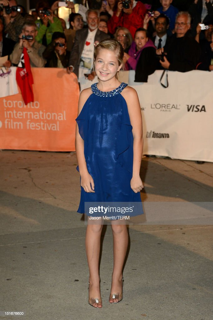 Actress Jackie Evancho arrives at 'The Company You Keep' Premiere at the 2012 Toronto International Film Festival at Roy Thomson Hall on September 9, 2012 in Toronto, Canada.