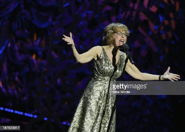 Actress Jackie Hoffman performs onstage during the International Myeloma Foundation's 7th Annual Comedy Celebration Benefiting The Peter Boyle...