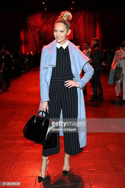 Actress Jackie Mirannattends the Naeem Khan Fall 2016 fashion show during New York Fashion Week The Shows at The Arc Skylight at Moynihan Station on...