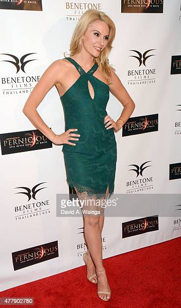 Actress Jackie Moore attends the 'Pernicious' premiere at Arena Cinema Hollywood on June 19 2015 in Hollywood California