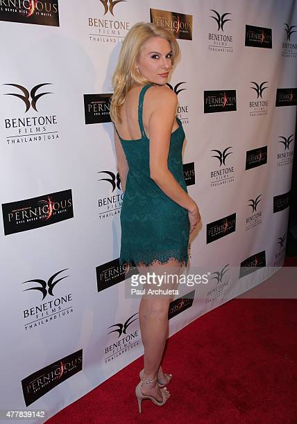Actress Jackie Moore attends the premiere PERNICIOUS at Arena Cinema Hollywood on June 19 2015 in Hollywood California