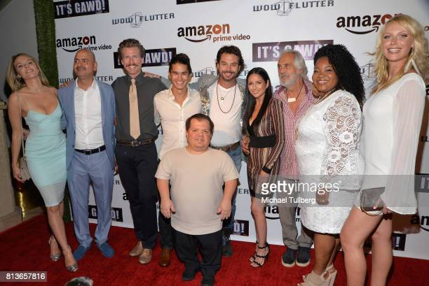 Actress Jackie Moore guest Josh Meyers actor Booboo Stewart Donnie Davis director Gerald Brunskill actors Cindy Vela Tommy Chong and Mara Hall and...