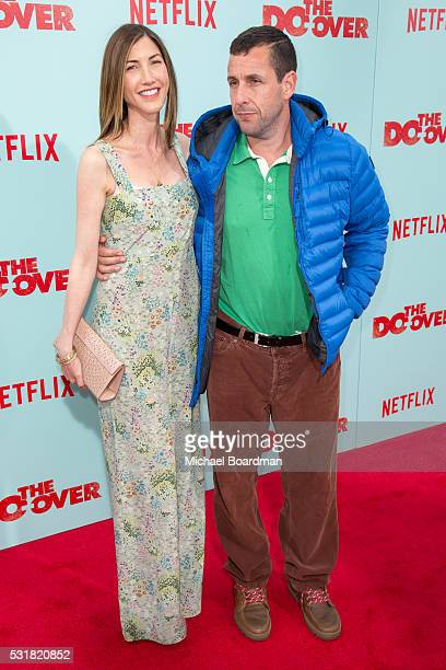 Actress Jackie Sandler and actor Adam Sandler attends the Premiere of Netflix's The Do Over at the Regal LA Live Stadium 14 on May 16 2016 in Los...