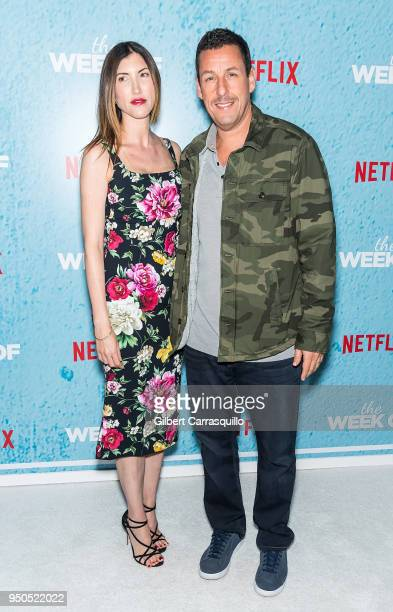 Actress Jackie Sandler and actor/comedian Adam Sandler attend 'The Week Of' New York Premiere at AMC Loews Lincoln Square on April 23 2018 in New...