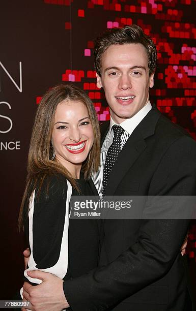 Actress Jackie Seiden and actor Erich Bergen arrive at the '2007 LA Stage Alliance Ovation Awards' at the Orpheum Theatre on November 12, 2007 in Los...