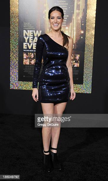 """Actress Jackie Seiden arrives at the """"New Year's Eve"""" Los Angeles Premiere at Grauman's Chinese Theatre on December 5, 2011 in Hollywood, California."""