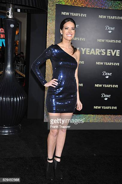 """Actress Jackie Seiden arrives at the premiere of """"New Years Eve"""" held at Grauman's Chinese Theater in Hollywood."""