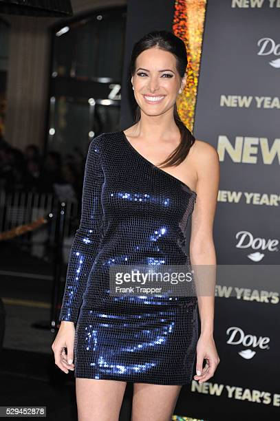 Actress Jackie Seiden arrives at the premiere of New Years Eve held at Grauman's Chinese Theater in Hollywood