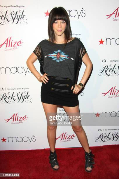 """Actress Jackie Tohn arrives at the Los Angeles Times Magazine's music and fashion event """"Rock Style"""" held at the Hollywood Roosevelt Hotel on June 1,..."""