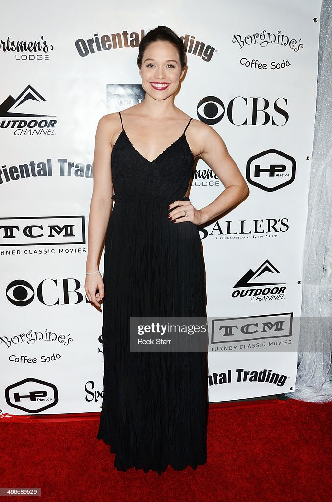 Actress Jaclyn Betham attends Borgnine Movie Star Gala to honor actor Joe Mantegna with the second annual Ernie Award at Sportman's Lodge on February 1, 2014 in Studio City, California.