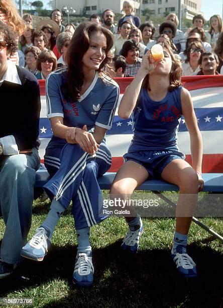 Actress Jaclyn Smith and actress Kristy McNichol attend the 'Battle of the Network Stars II' Television Special on February 5 1977 at Pepperdine...