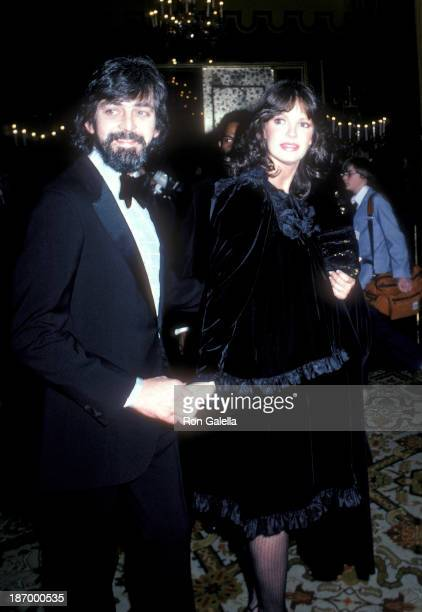 Actress Jaclyn Smith and husband Anthony Richmond attend the 39th Annual Golden Globe Awards on January 30 1982 at the Beverly Hilton Hotel in...