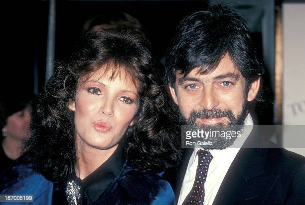Actress Jaclyn Smith and husband Anthony Richmond attend the High Road to China Westwood Premiere on March 13 1983 a tthe Mann Village Theatre in...