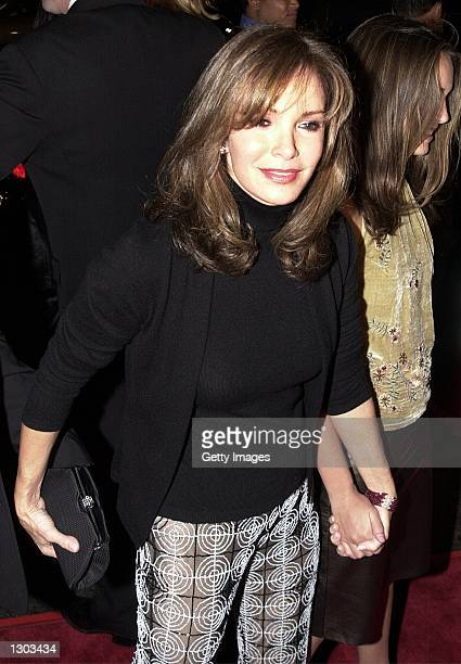 Actress Jaclyn Smith arrives at the premiere of the new film Charlie''s Angels on October 22 2000 in Hollywood CA