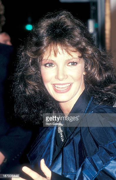 Actress Jaclyn Smith attends the High Road to China Westwood Premiere on March 13 1983 a tthe Mann Village Theatre in Westwood California