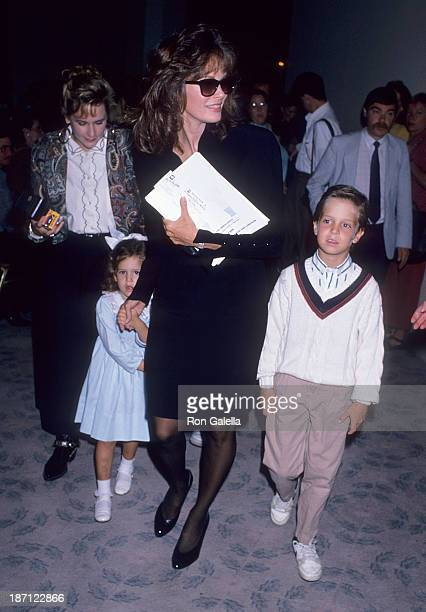 Actress Jaclyn Smith daughter Spencer Richmond and son Gaston Richmond attend the Inner Circle for Los Angeles Childrens Museum's Sixth Annual...