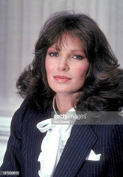 Actress Jaclyn Smith On the Set for the NBC Television Movie Rage of Angels on August 6 1982 at Columbia University in New York City