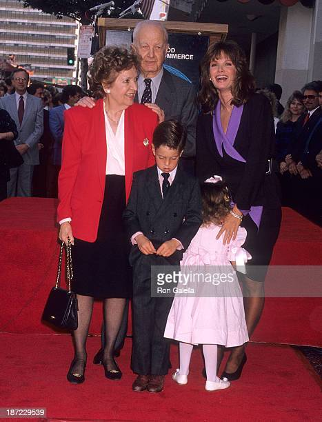 Actress Jaclyn Smith parents Margaret and Jack Smith and her children Spencer Richmond and Gaston Richmond attend Jaclyn Smith receives a star on the...