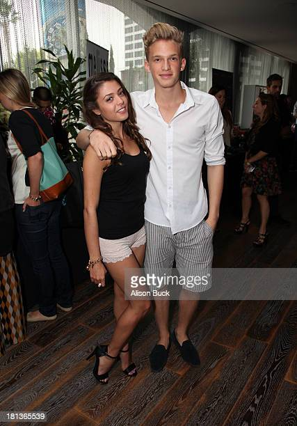 Actress Jacque Pyles and singer Cody Simpson attend Kari Feinstein's PreEmmy Style Lounge at the Andaz Hotel on September 20 2013 in Los Angeles...