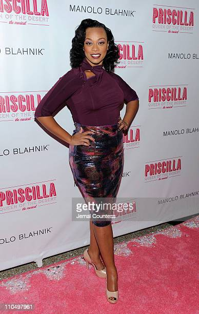 Actress Jacqueline B Arnold attends the after party for the Broadway opening night of Priscilla Queen of the Desert The Musical at Pier 60 on March...