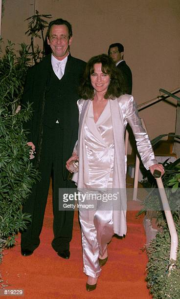 Actress Jacqueline Bisset and a friend attend the Spago closing party hosted by celebrity chef Wolfgang Puck and his wife Barbara Lazaroff March 28...