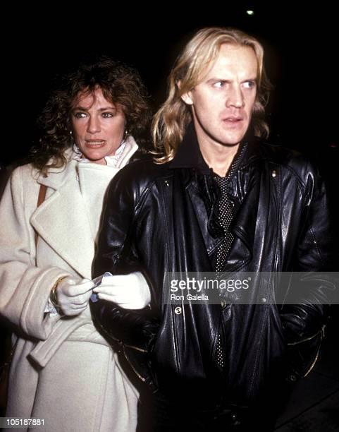 Actress Jacqueline Bisset and actor/dancer Alexander Godunov attend the Starstruck Beverly Hills Premiere on January 25 1983 at Mann Fine Arts...
