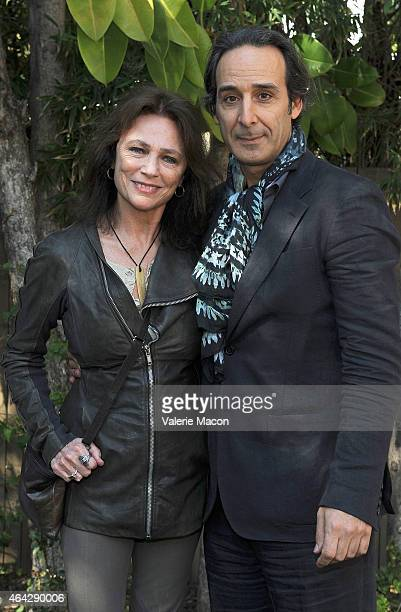 Actress Jacqueline Bisset and composer Alexandre Desplat attend The Consul General Of France, Mr. Axel Cruau, Honors The French Nominees For The 87th...