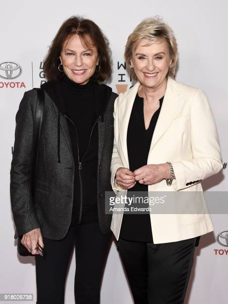 Actress Jacqueline Bisset and journalist Tina Brown arrive at the 2018 Women In The World Los Angeles Salon at NeueHouse Hollywood on February 13...