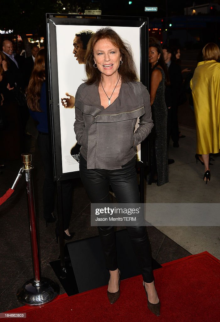 Actress Jacqueline Bisset arrives at the Los Angeles premiere of '12 Years A Slave' at Directors Guild Of America on October 14, 2013 in Los Angeles, California.