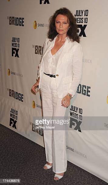 Actress Jacqueline Bisset arrives at the Series Premiere Of FX's 'The Bridge' at DGA Theater on July 8 2013 in Los Angeles California