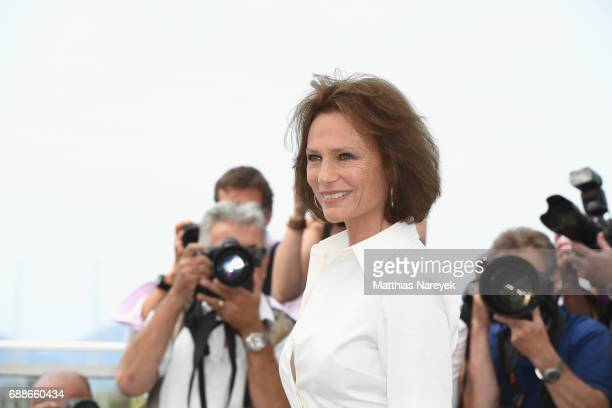 Actress Jacqueline Bisset attends the Amant Double Photocall during the 70th annual Cannes Film Festival at Palais des Festivals on May 26 2017 in...
