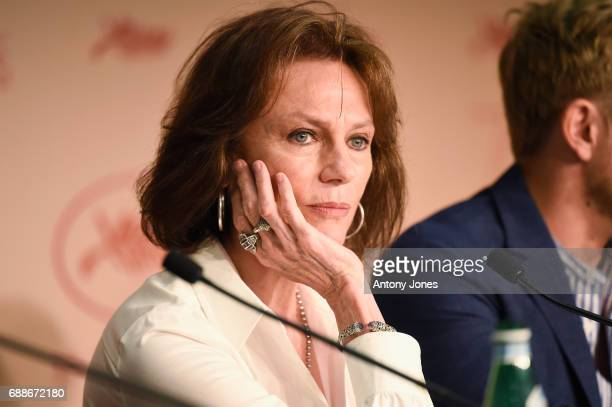 "Actress Jacqueline Bisset attends the ""Amant Double "" Press Conferenceduring the 70th annual Cannes Film Festival at Palais des Festivals on May 26,..."