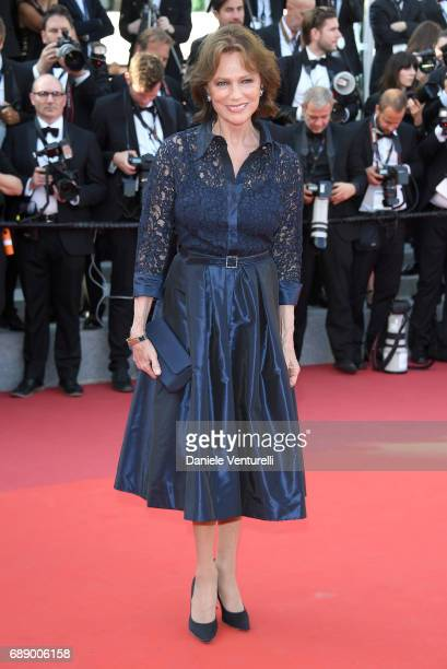 Actress Jacqueline Bisset attends the 'Based On A True Story' screening during the 70th annual Cannes Film Festival at Palais des Festivals on May 27...