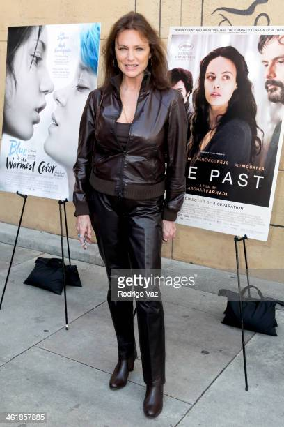 Actress Jacqueline Bisset attends the Golden Globe ForeignLanguage Nominees panel discussion and screening series photo op at American Cinematheque's...