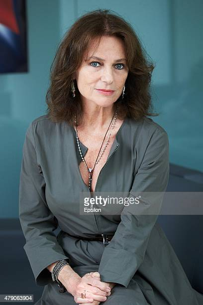 Actress Jacqueline Bisset poses for a photograph during a portrait session on June 22 2015 in Moscow Russia