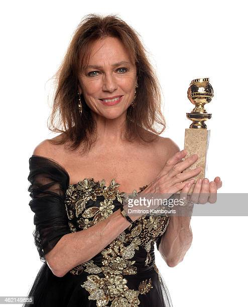 Actress Jacqueline Bisset, winner of Best Supporting Actress in a Series, Miniseries, or Television Film for 'Dancing on the Edge,' poses for a...
